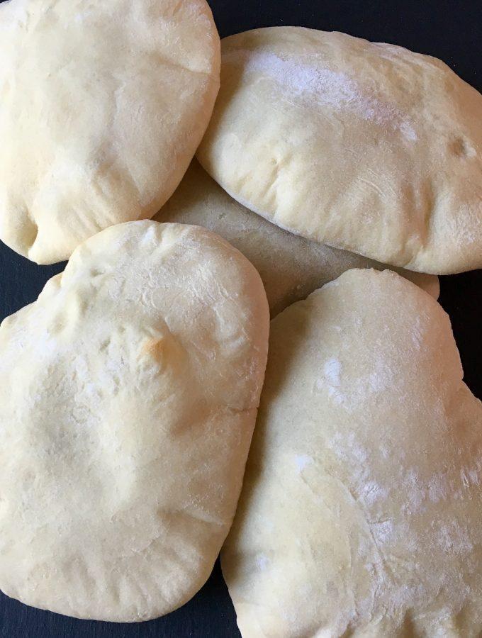 Puffy Homemade Pita Bread
