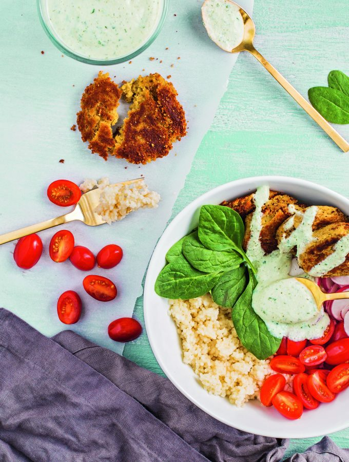 Falafel Bowl with Israeli Couscous