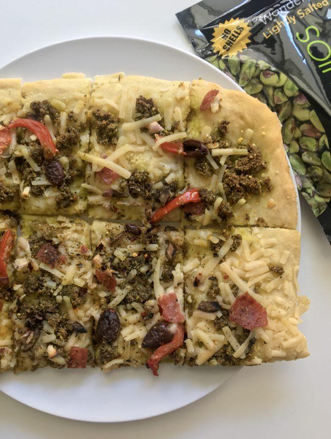 Wonderful Pistachio Basil Pesto Pizza