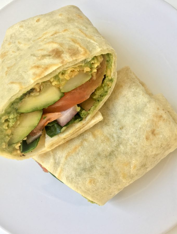 Grilled Zucchini Vegetable Hummus Wraps
