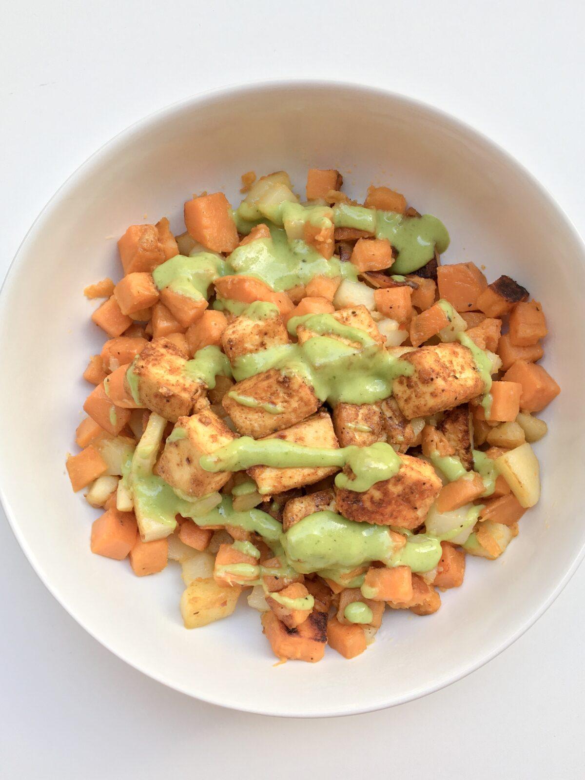 Chili-Spiced Crispy Fried Tofu Bowl withCharred Green Onion Vinaigrette Satu'li Canteen Copycat.JPG