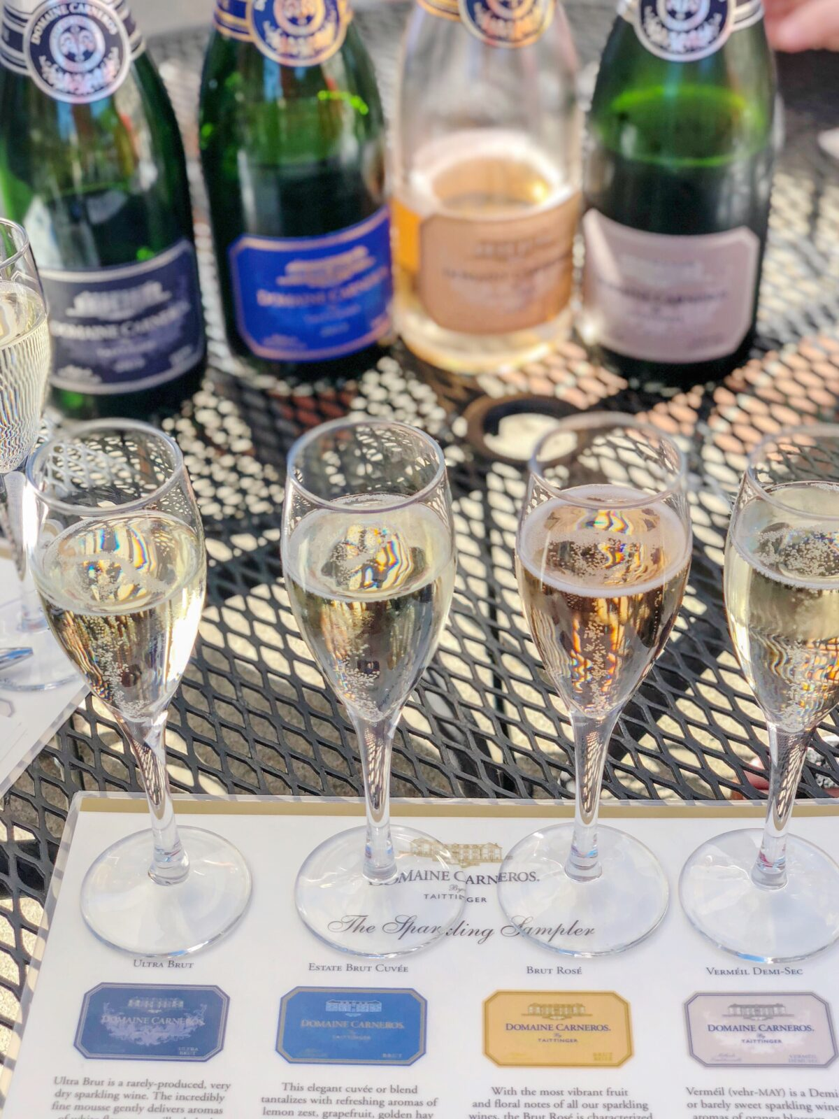 Domaine Carneros Sparkling Wine Tasting Flight