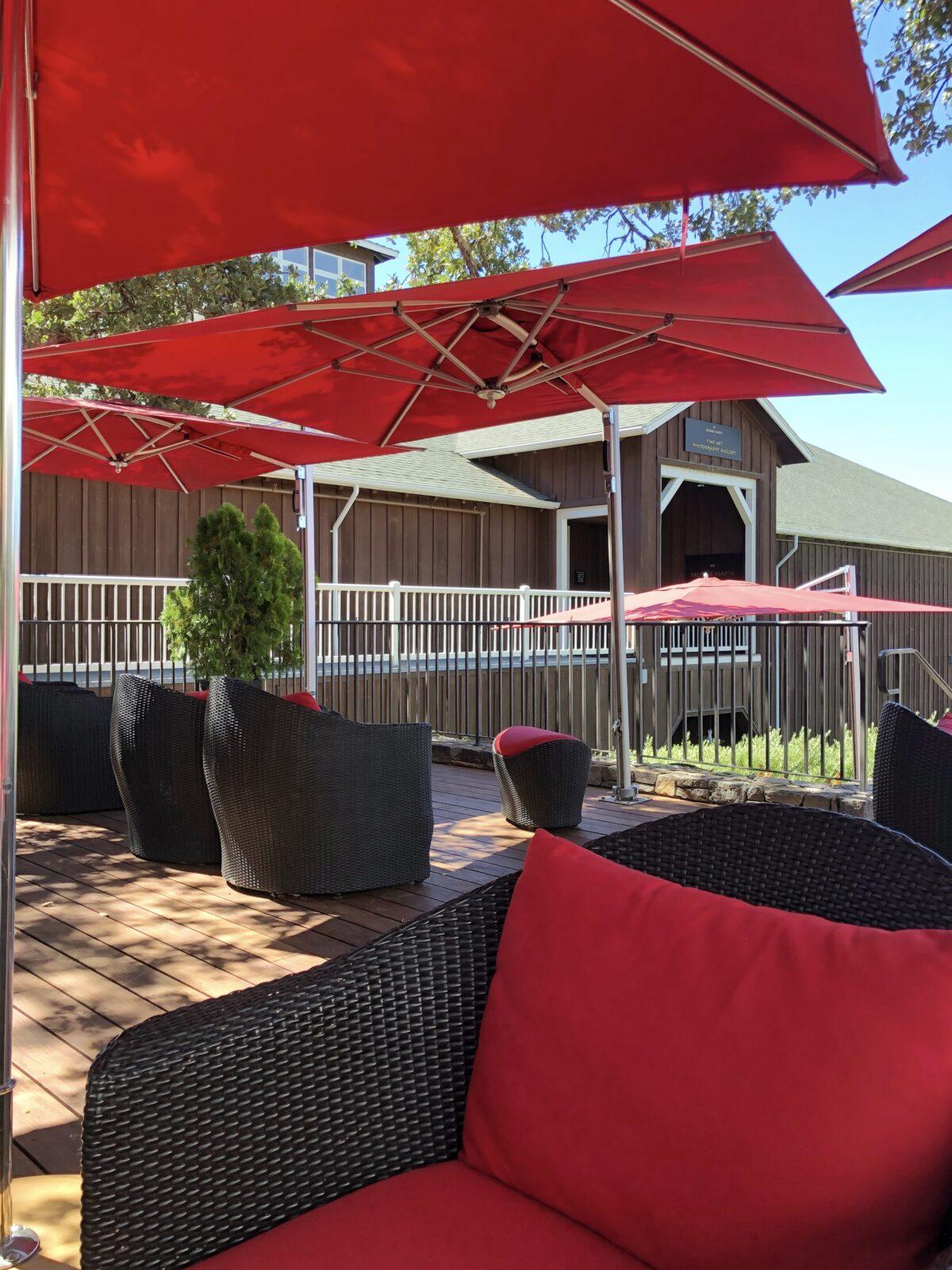 Mumm Napa Sparkling Wine Tasting Oak Terrace Seating
