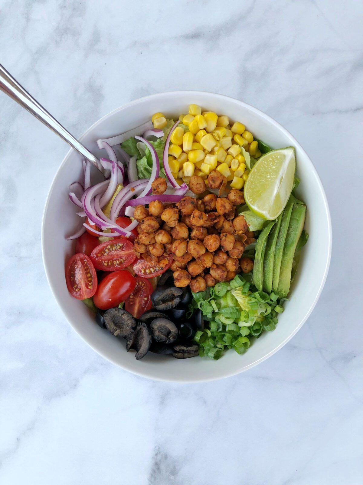 Vegan Chickpea Taco Salad Recipe