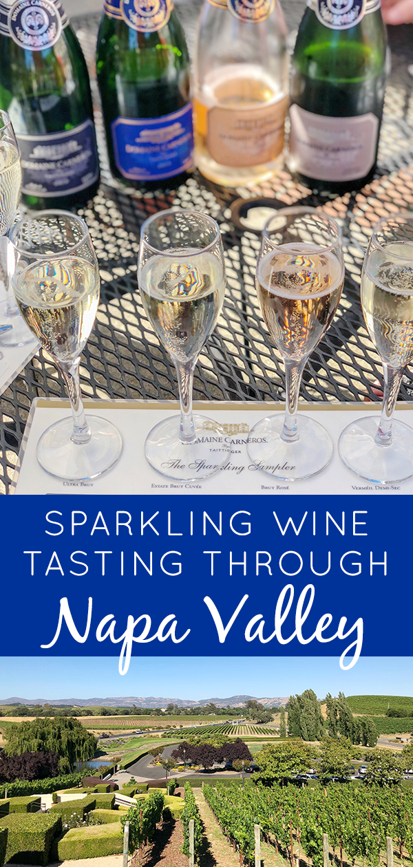 Planning a sparkling wine tasting day in Napa Valley? Find out how I packed three tastings plus a lunch into one unforgettable day!