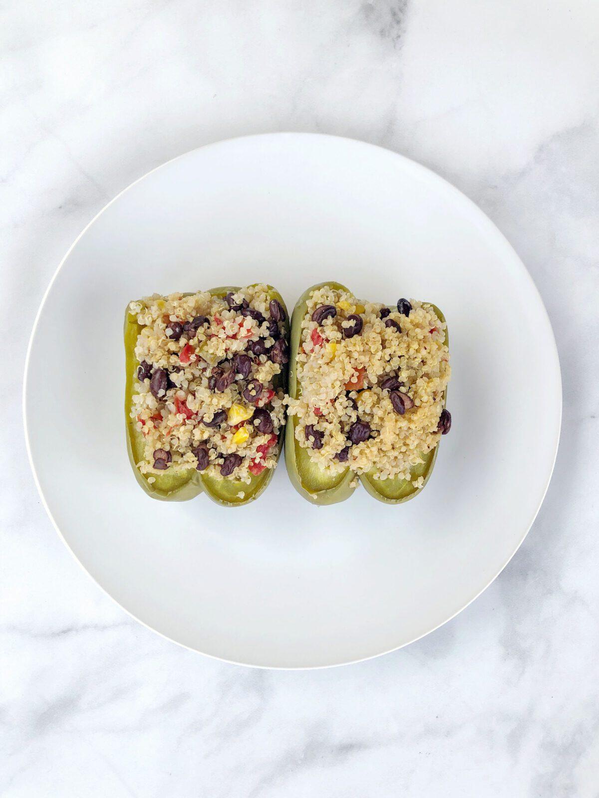 Easy Quinoa Stuffed Peppers