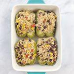 Easy Vegan Quinoa Stuffed Peppers