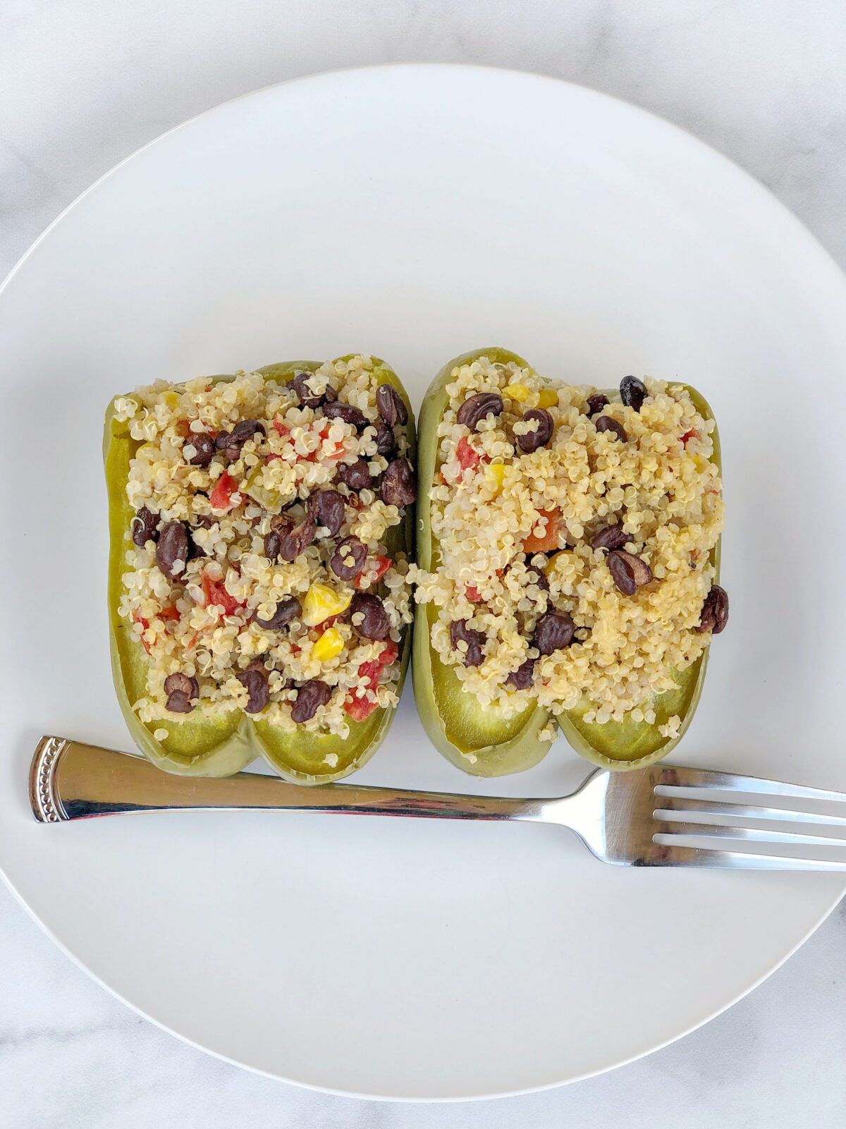 Easy Vegan Quinoa Stuffed Peppers Recipe
