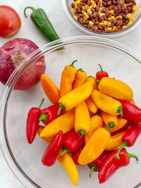 Sweet Pepper Nachos Ingredients