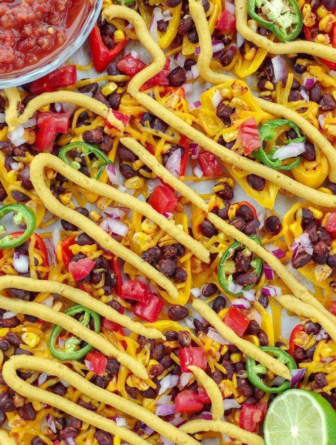 Vegan Mini Sweet Pepper Nachos are the ultimate low-carb, dairy-free, and gluten-free snack sure to please any crowd.Pefect for parties and game day!
