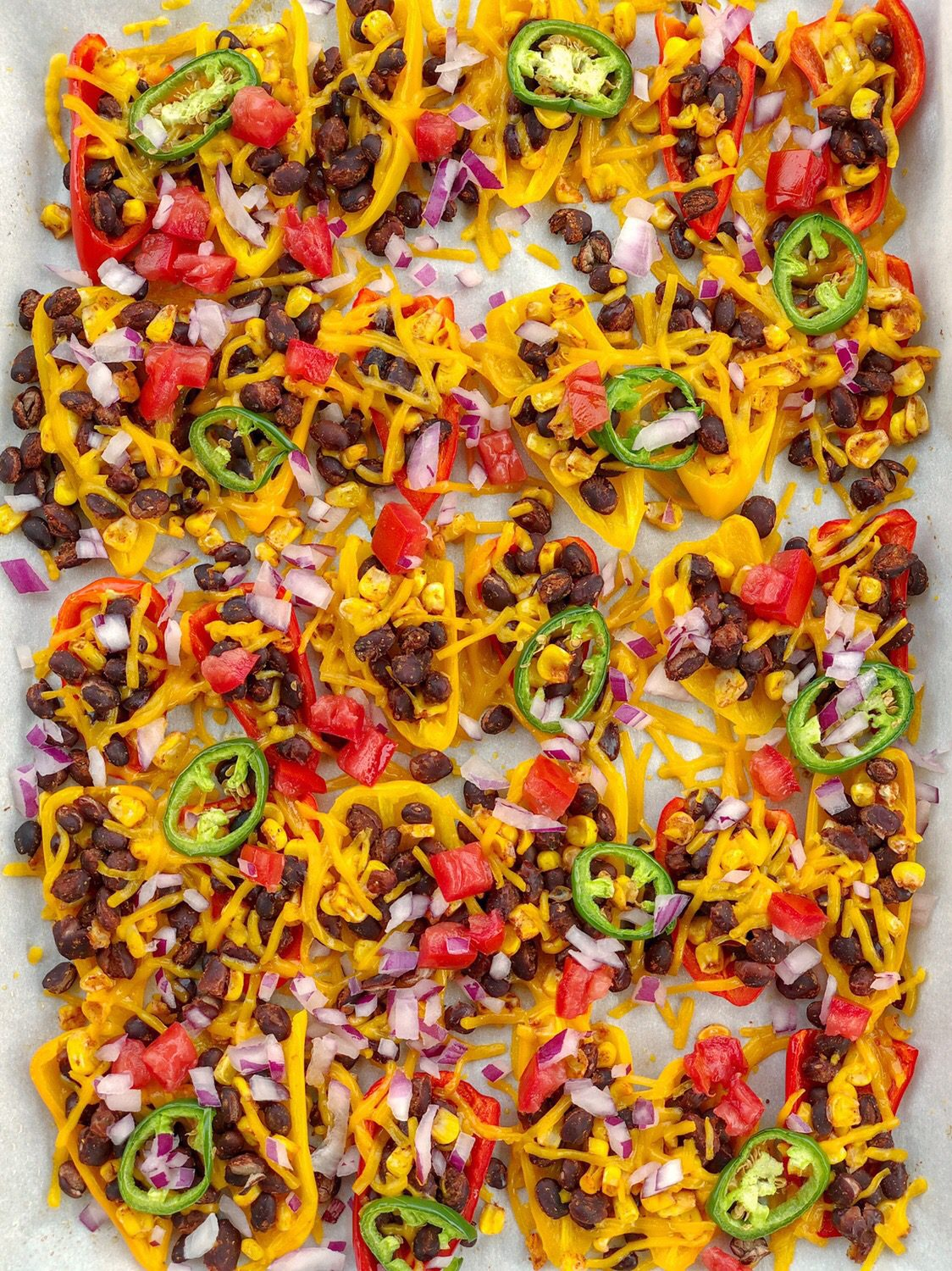 Vegan Mini Sweet Pepper Nachos are the ultimate low-carb, dairy-free, and gluten-free snack sure to please any crowd
