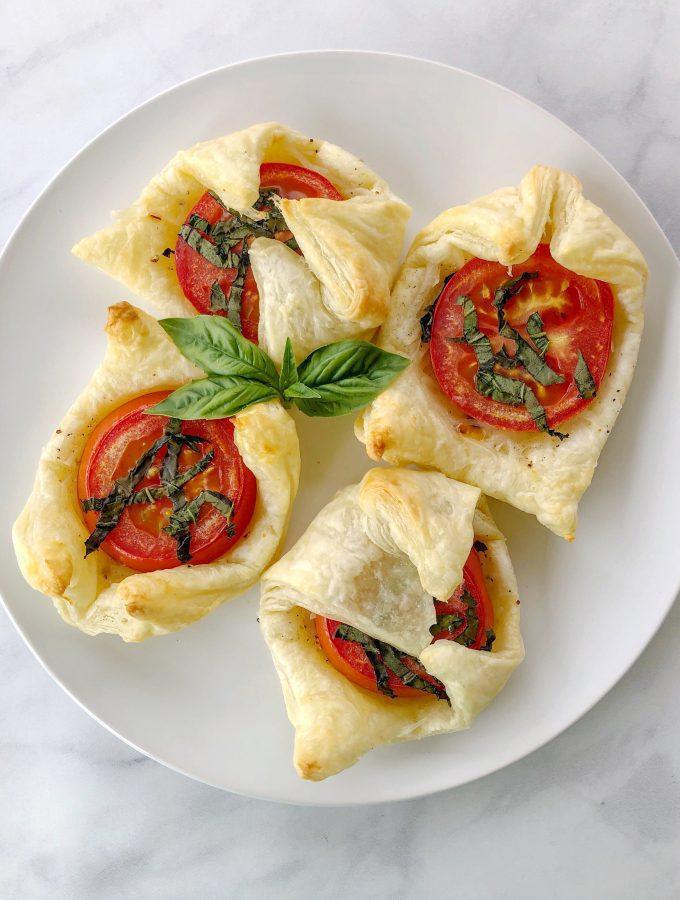 Vegan Tomato Basil Tarts