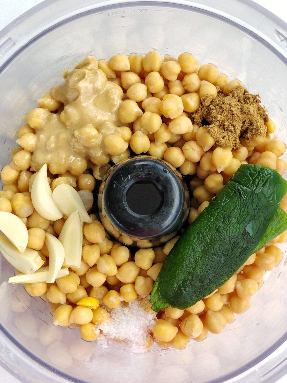 Spicy Roasted Jalapeno Hummus Recipe