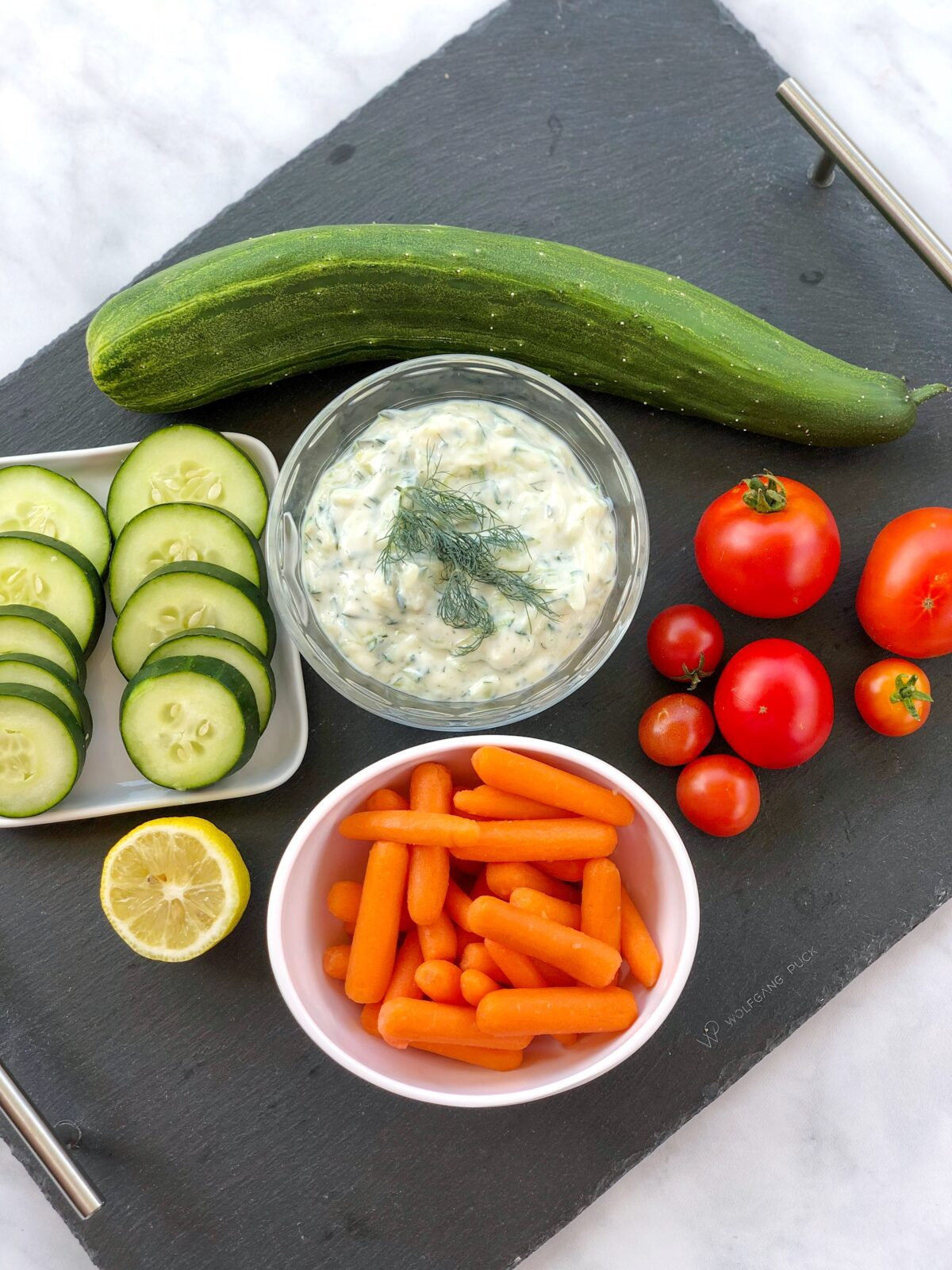 Quick and Easy Vegan Yogurt Tzatziki with Fresh Dill
