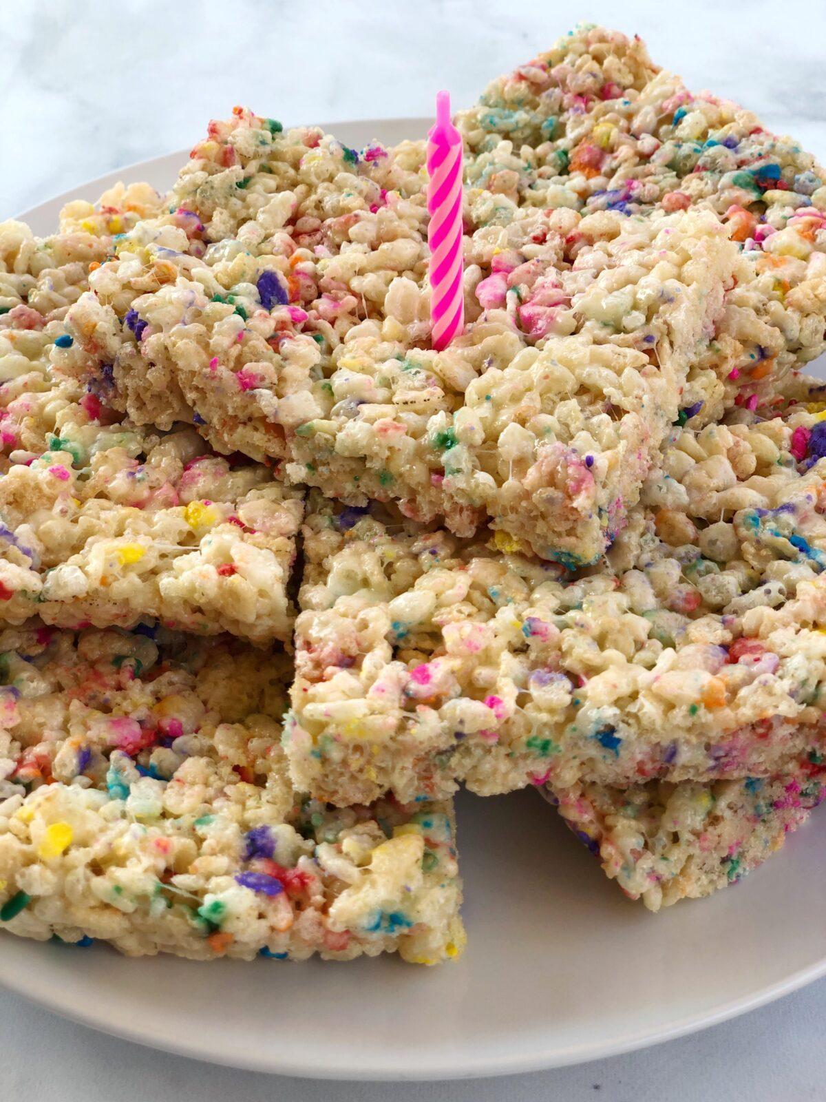 Birthday Funfetti Rice Krispies
