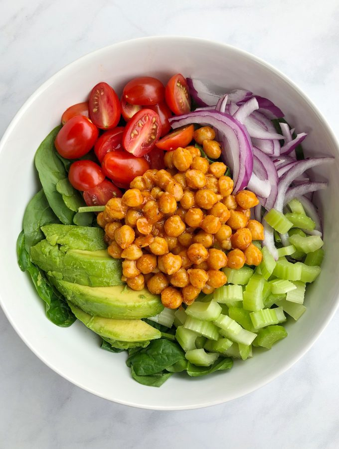 Buffalo Chickpea Salad Vegan Recipe