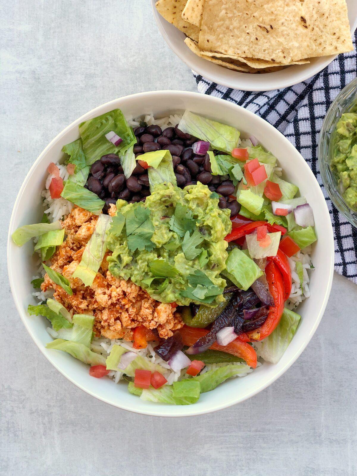 Easy Homemade Sofritas Burrito Bowl