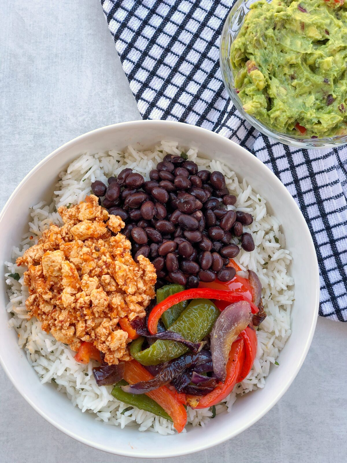 Easy Homemade Tofu Sofritas Burrito Bowl