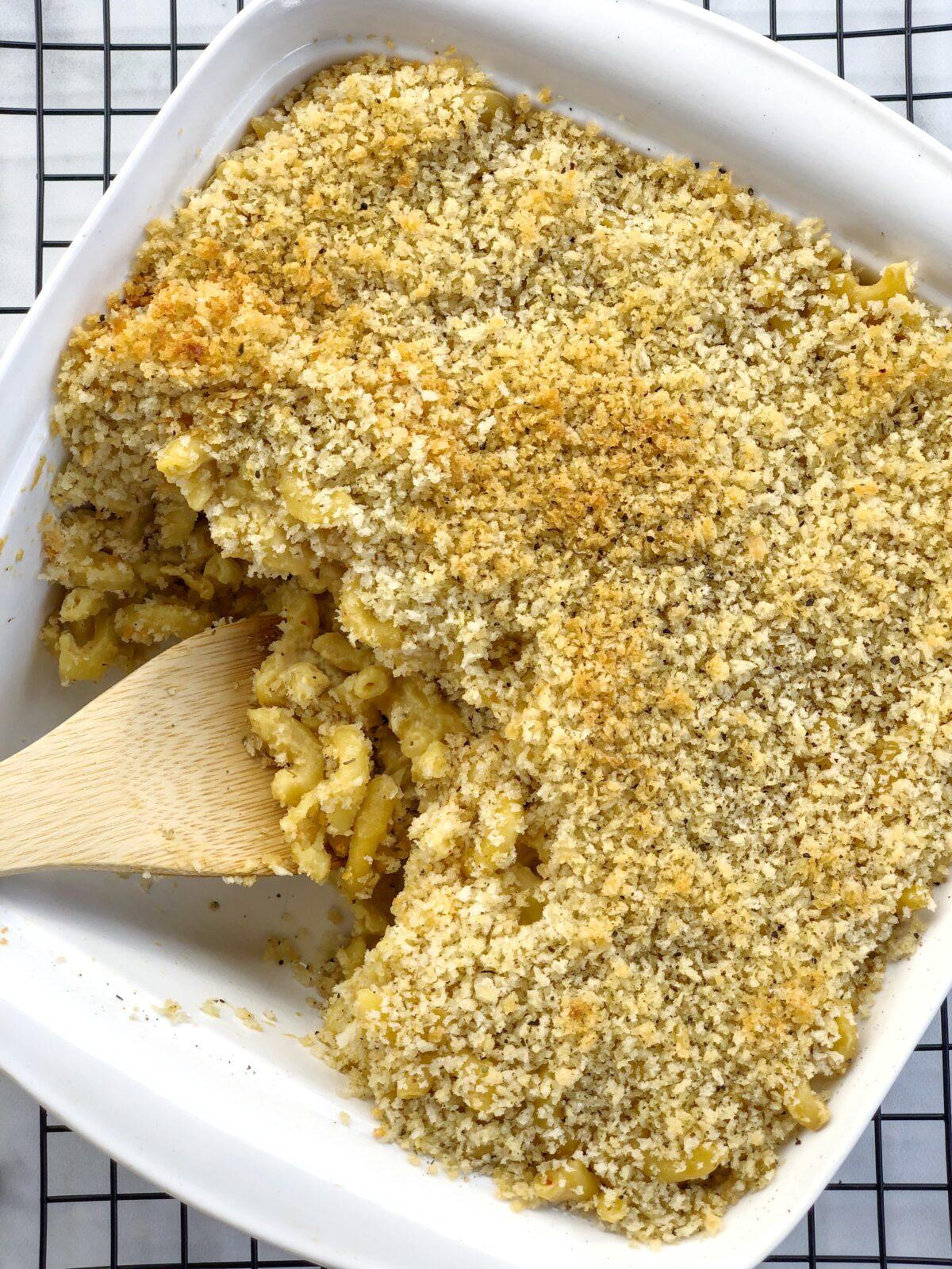 Vegan Baked Mac n Cheese