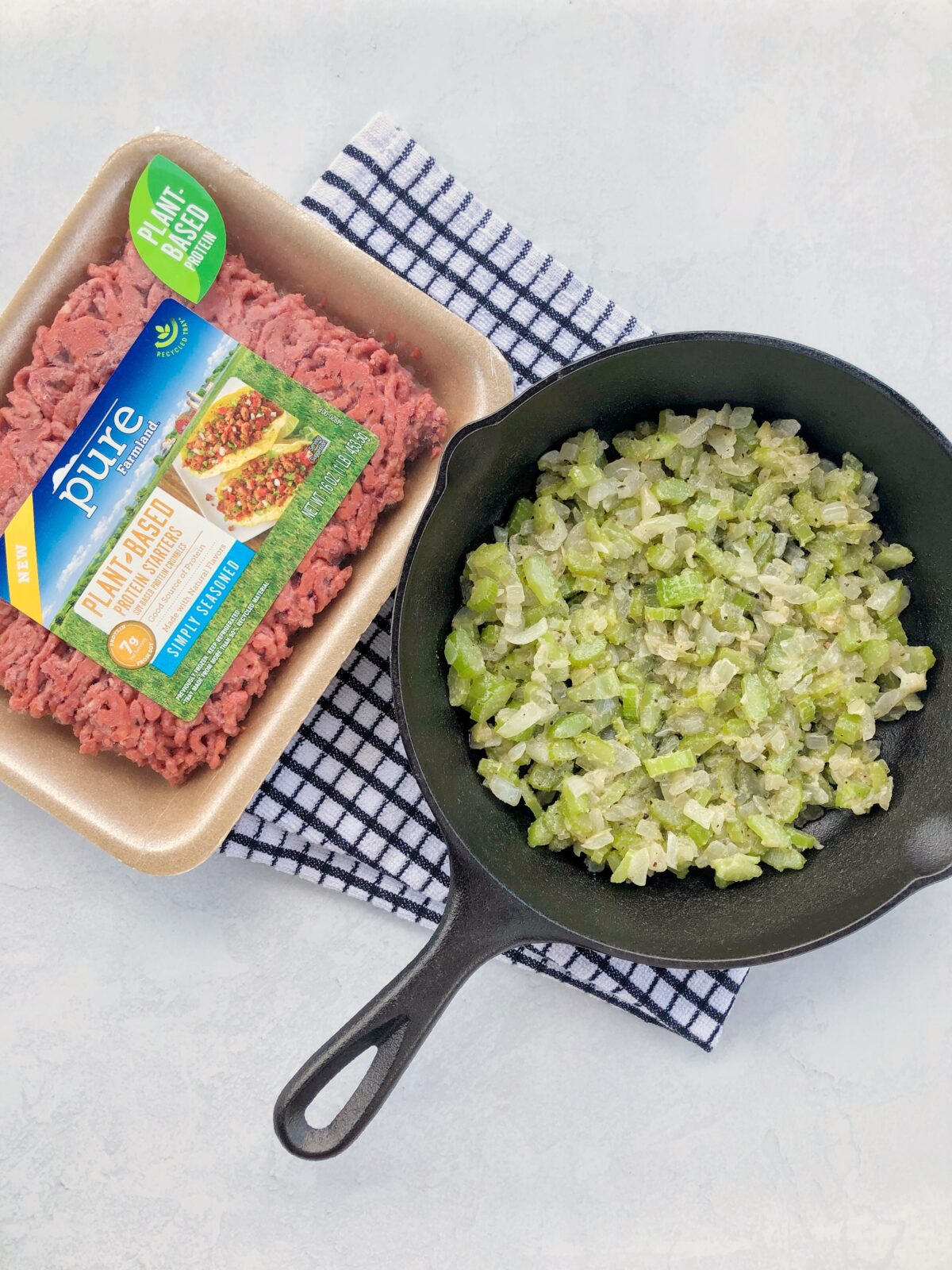 Vegan Sausage Stuffing with pure Farmland Plant Based Protein Starters