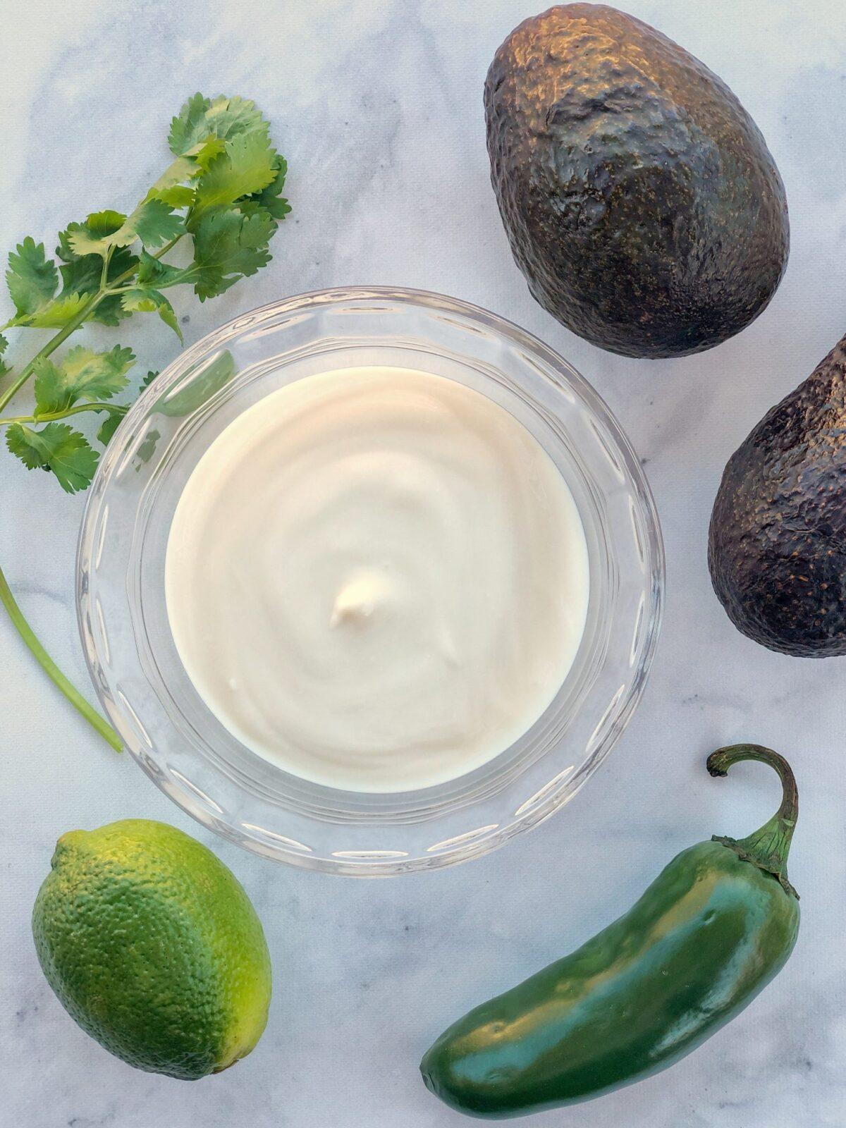 Vegan Yogurt Avocado Crema