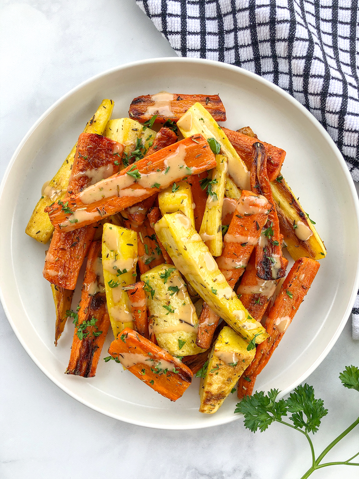 Roasted Root Vegetables with Parsley